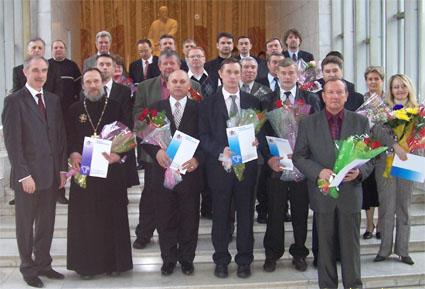 После церемонии награждения в Большом зале Ленинского мемориала состоялось праздничное чествование благотворителей.